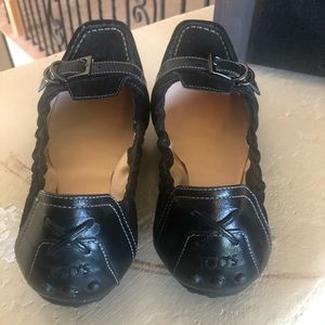 Tod's Shoes - Tods black suede ballerina flats. Size 7.5